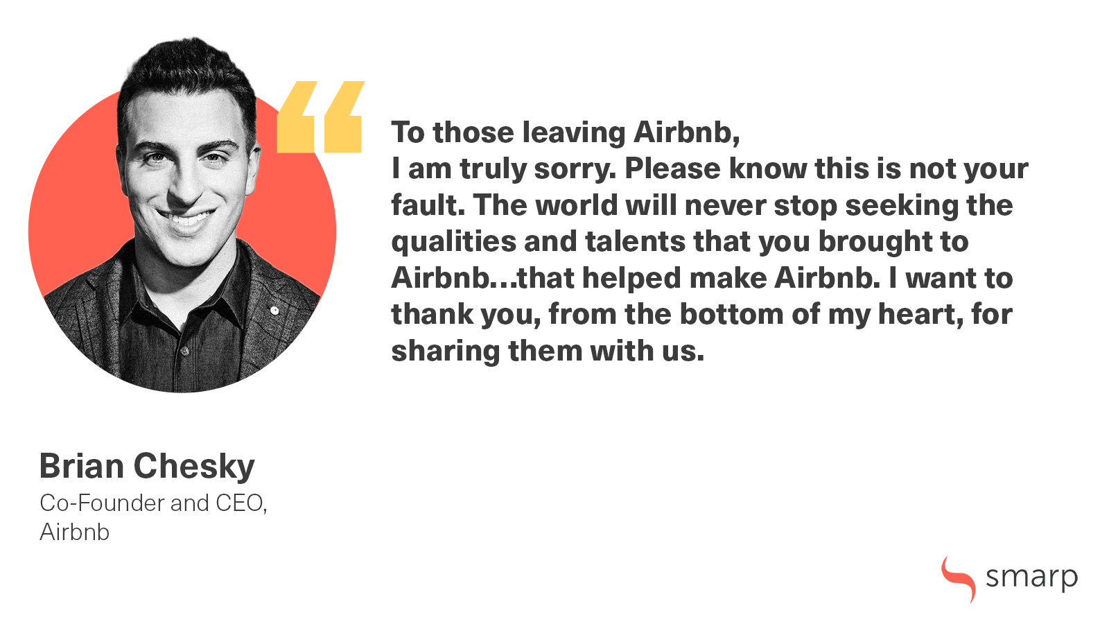 Brian Chesky airbnb smarp quote w