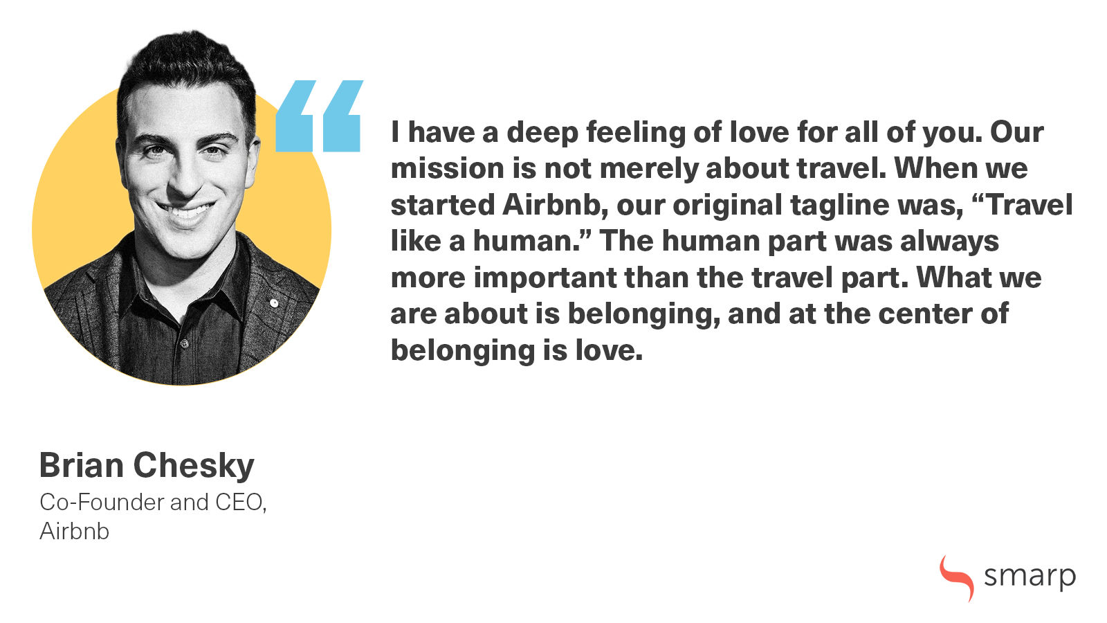 Brian Chesky airbnb smarp quote