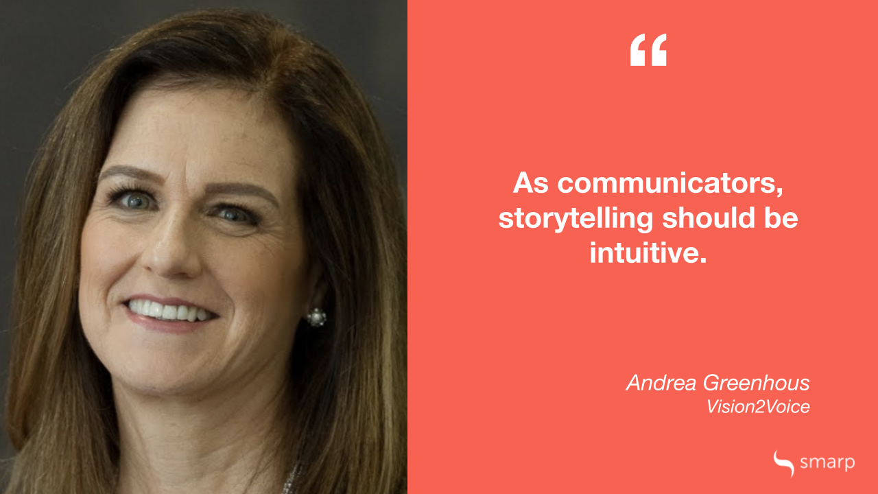 Andrea Greenhous from Vision2Voice explains why we need to use storytelling in internal communication