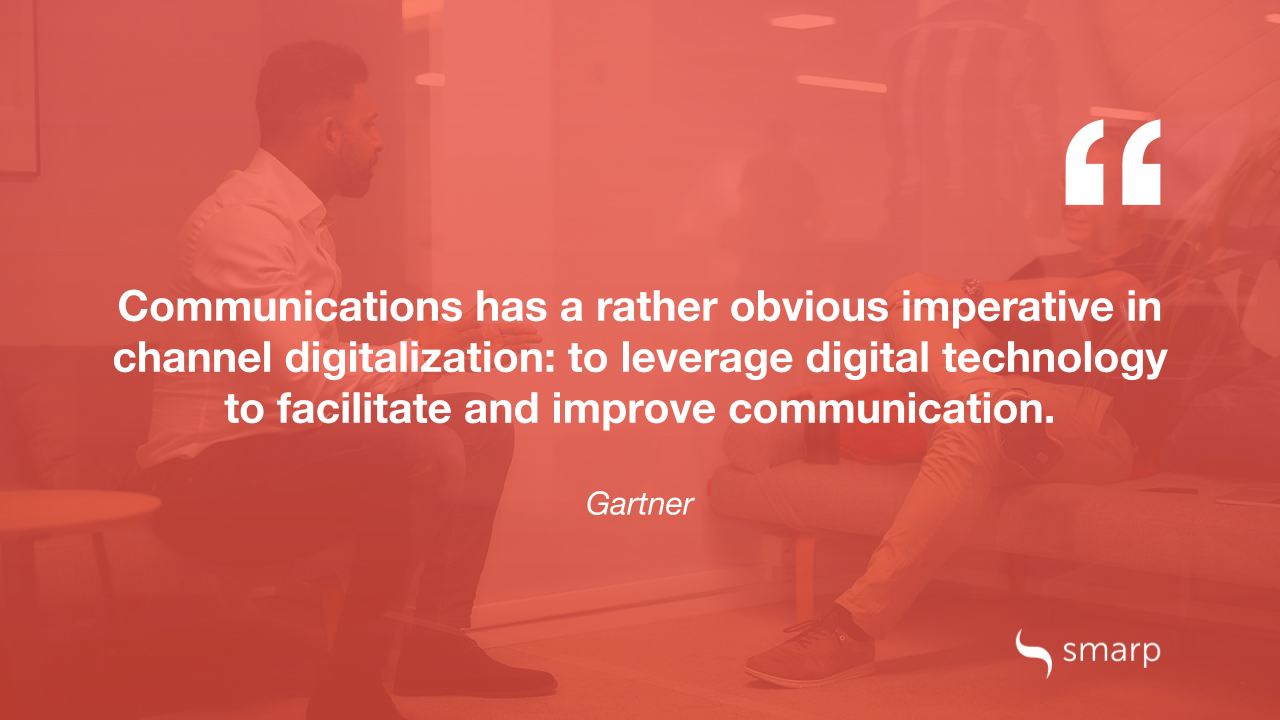 Gartner on the importance of using digital channels in business communication