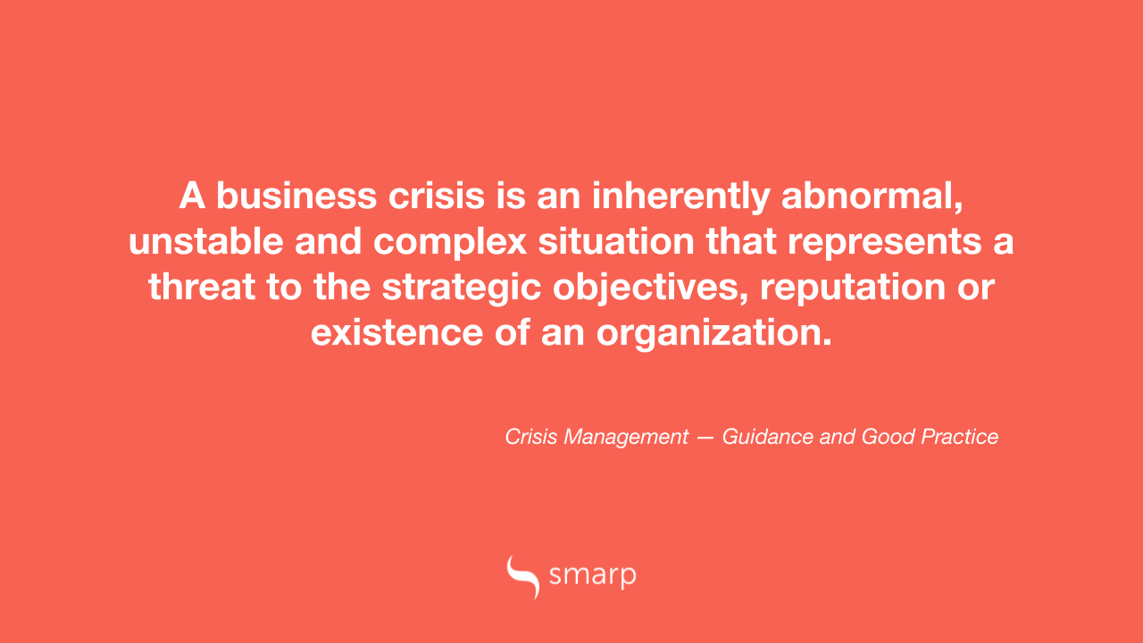 What is a business crisis?