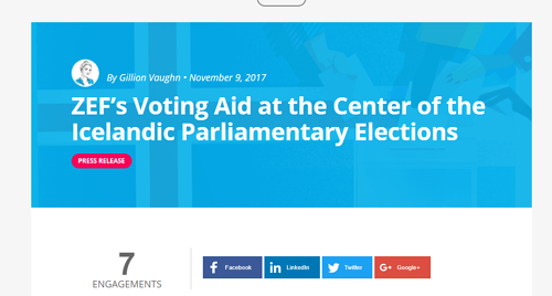 Software company ZEF educates Icelandic voters