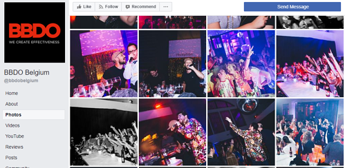 Belgian advertising company BBDO shares company party photos