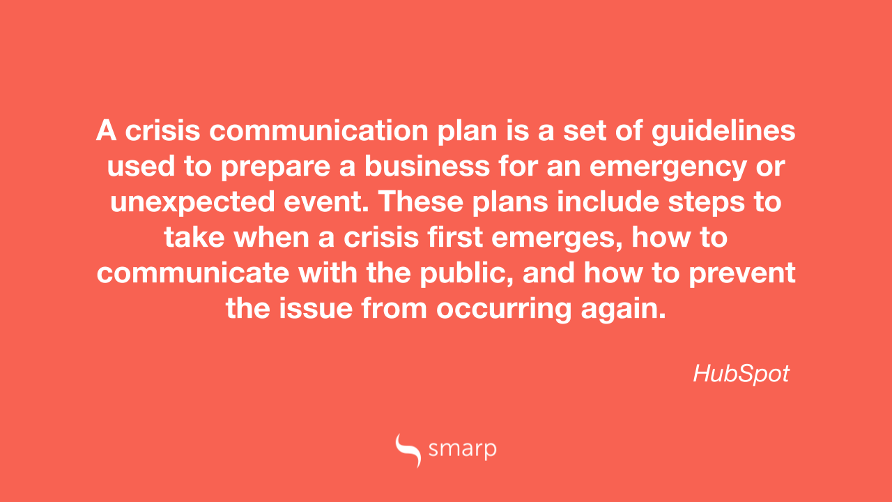 What is a crisis communication plan?