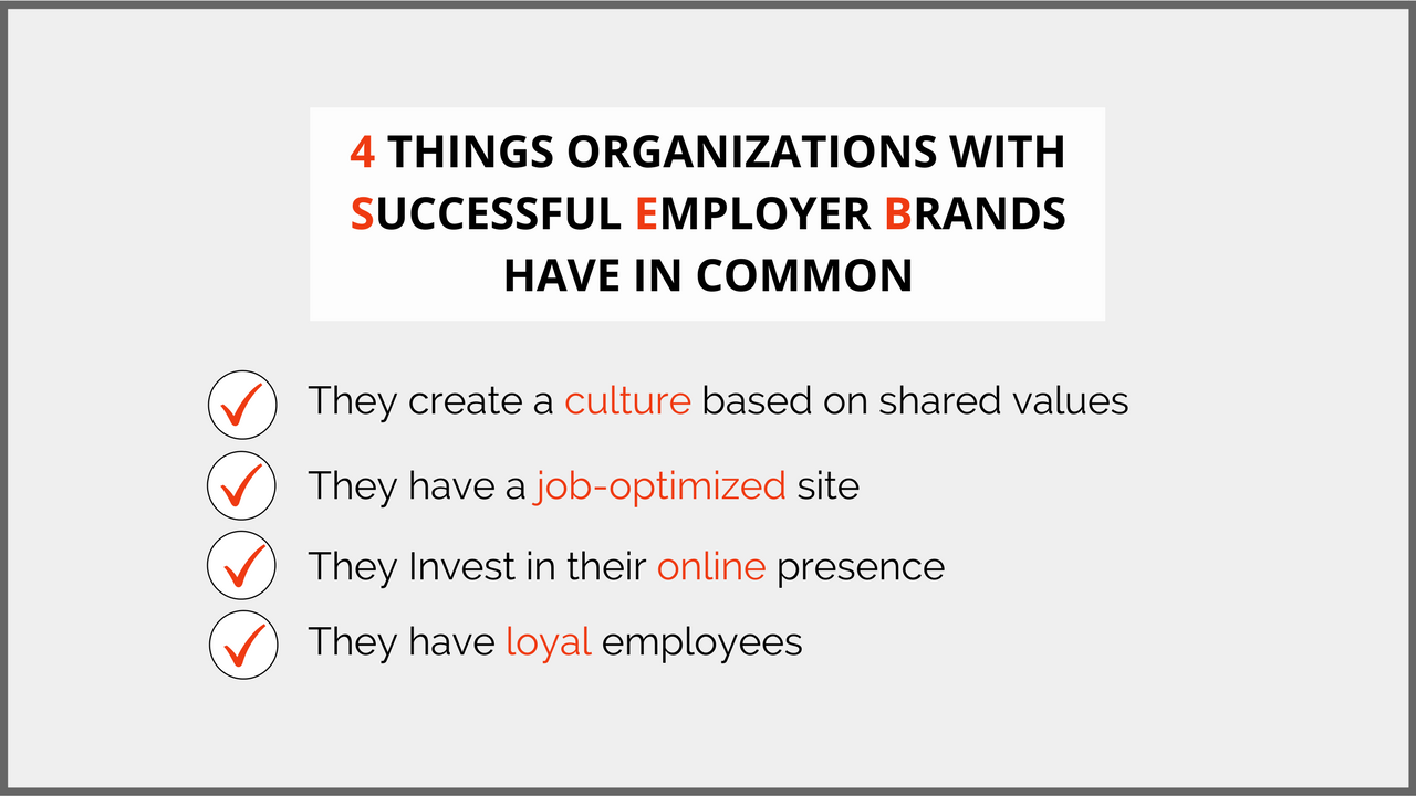 4 Things Organizations with Successful Employer Brands Have in Common