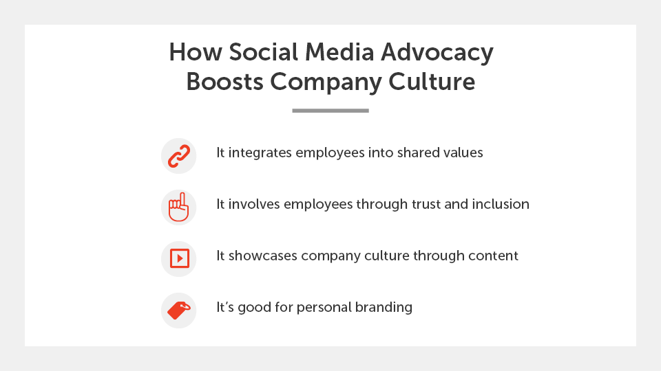 How social media advocacy boosts company culture