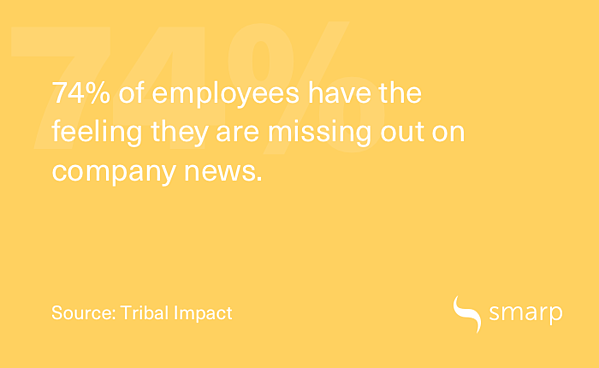 employees have the feeling they're missing out on company news
