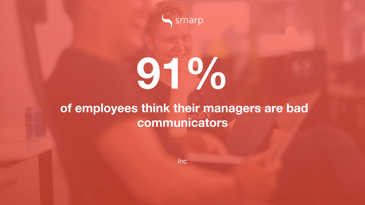 most employees think their managers are bad communicators
