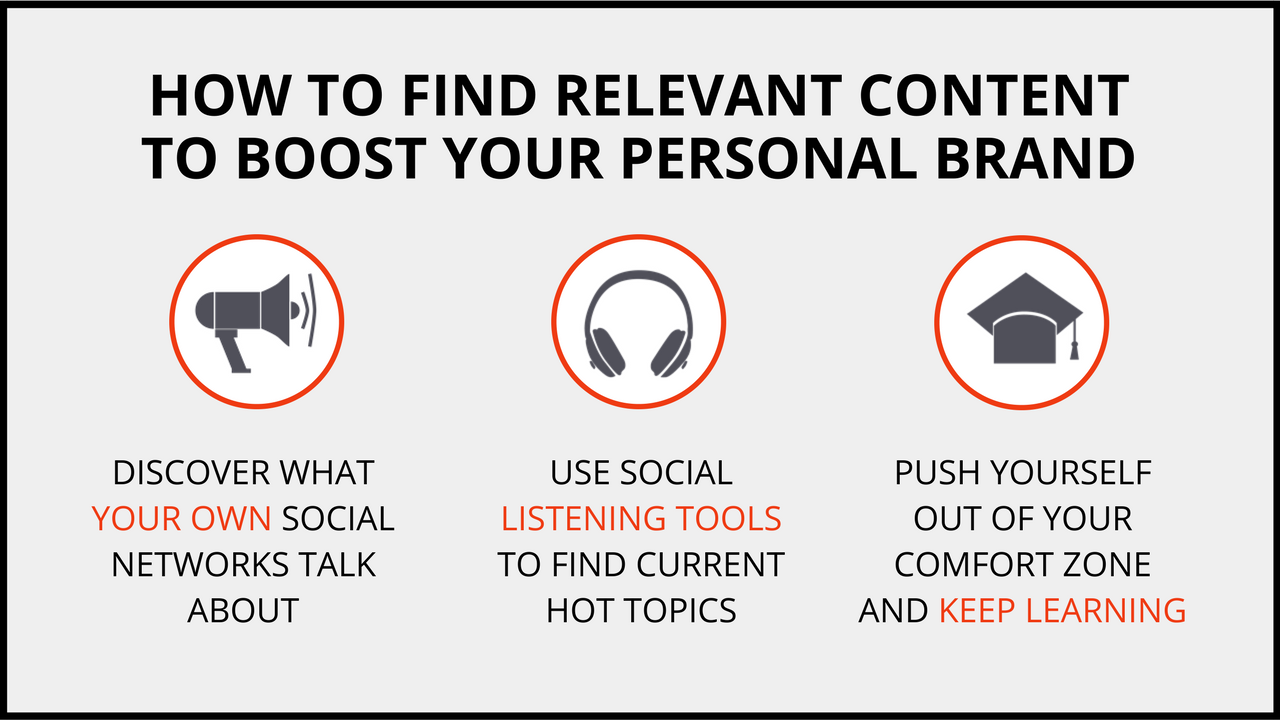 How to find relevant content to boost your personal brand