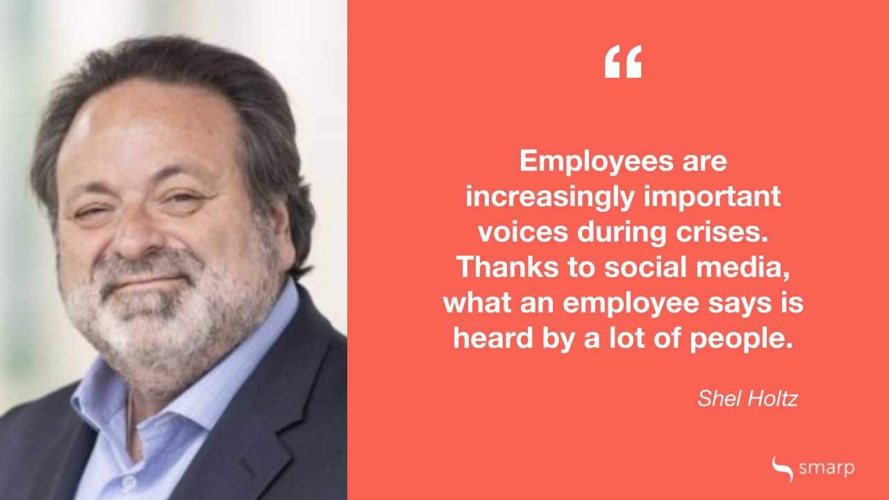 Shel Holtz on the importance of communicating with employees during a business crisis