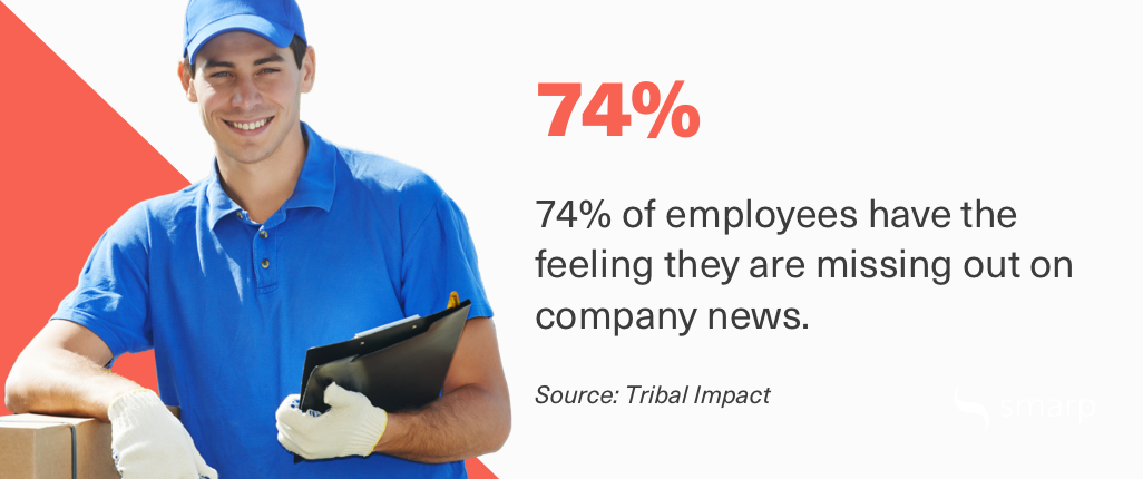 employees are missing out on important information