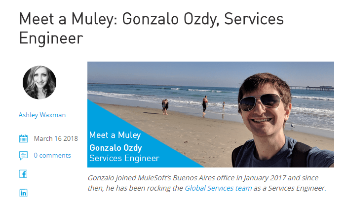 Mulesoft content employees want to share